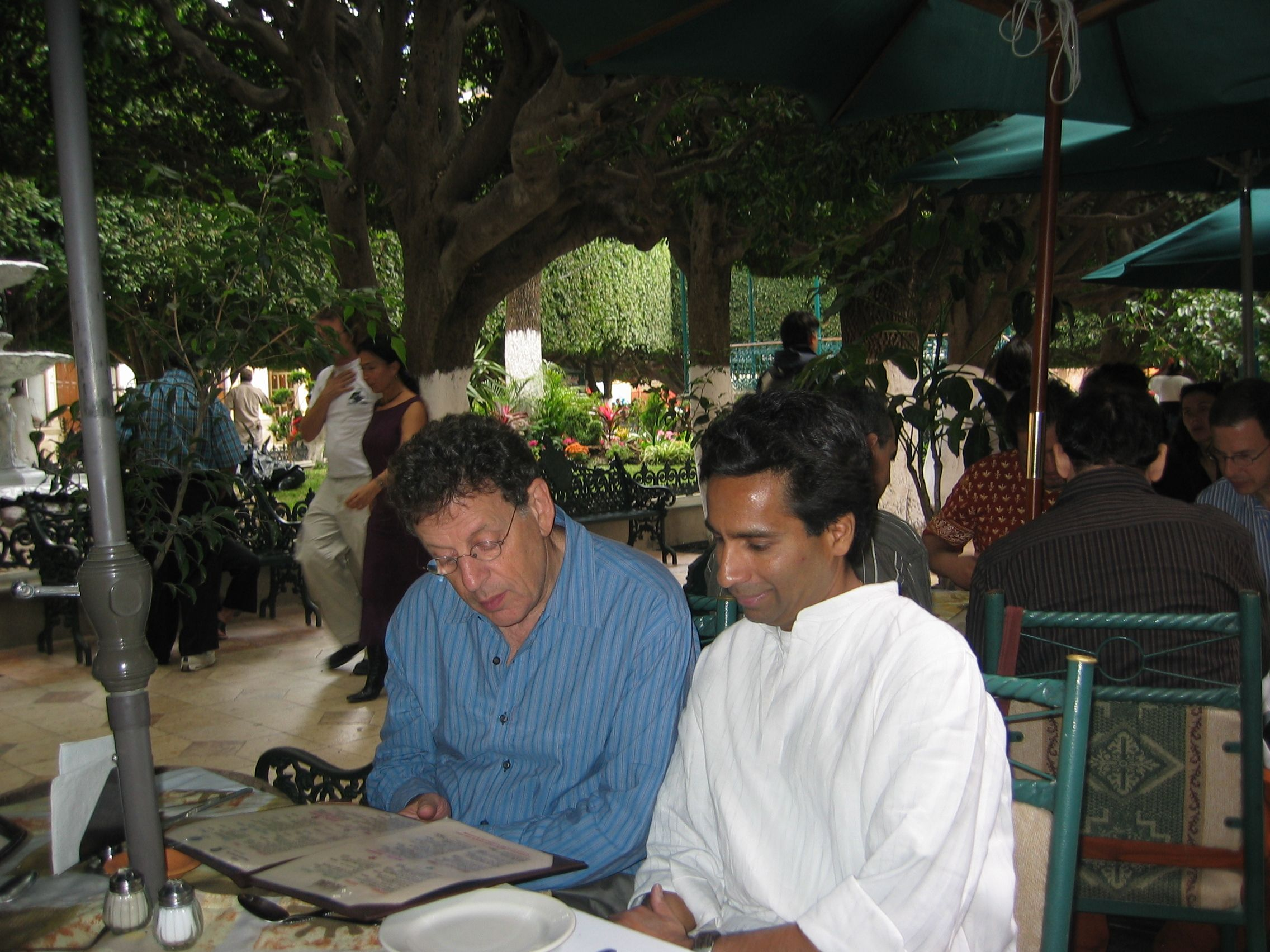 With Philip Glass in Mexico