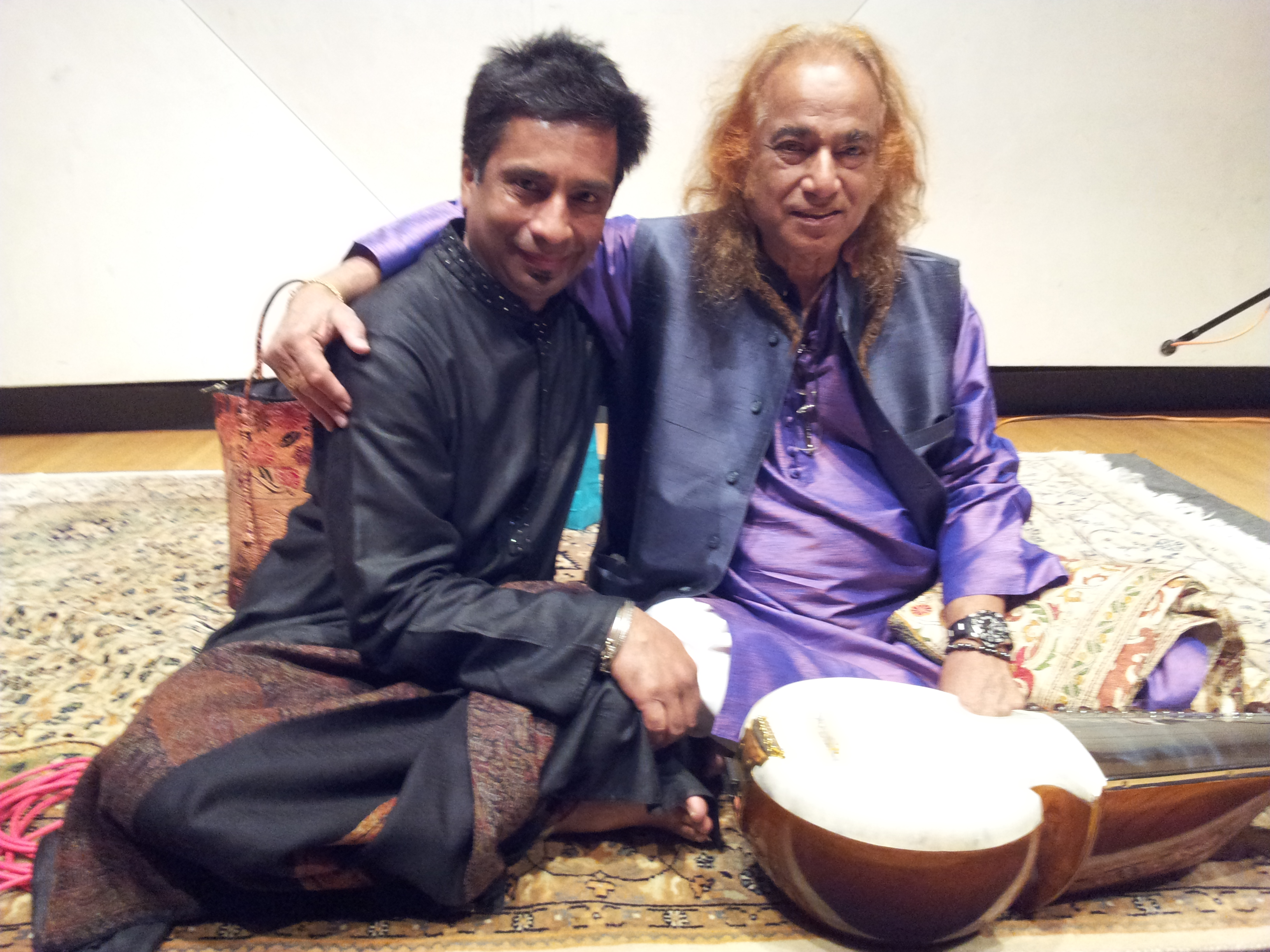 With Sufi Aashish Khan