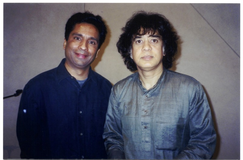 With Ustad Zakir Hussain