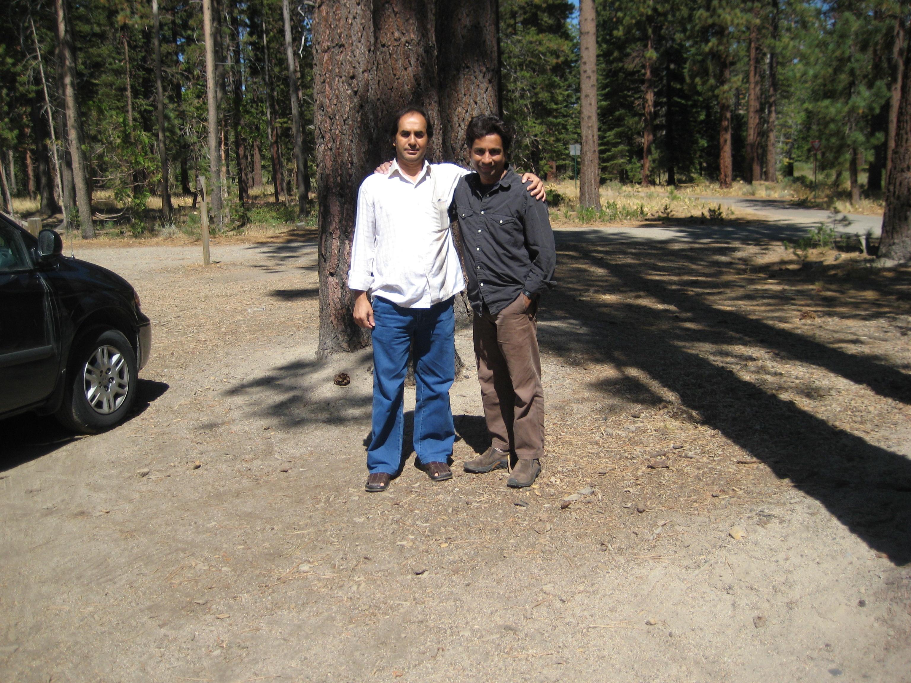 In lake tahoe