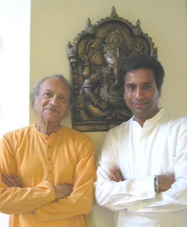 With Guru Pandit Ravi Shankar